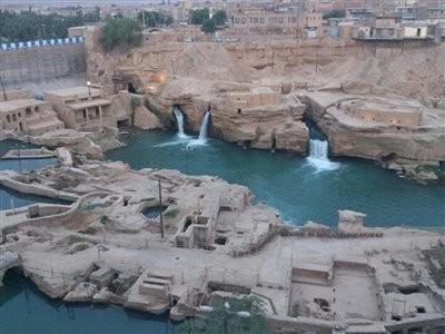 آبشار و سازه های آبی شوشتر (آسیاب های سیکا)