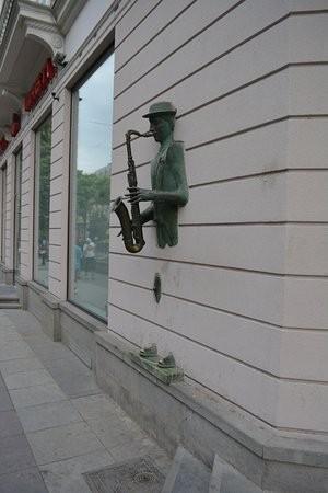 Sculpture the Saxophone Player