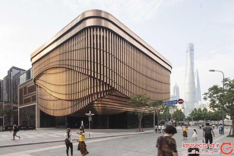 نمای جالب و متحرک ساختمانی جدید در شانگهای