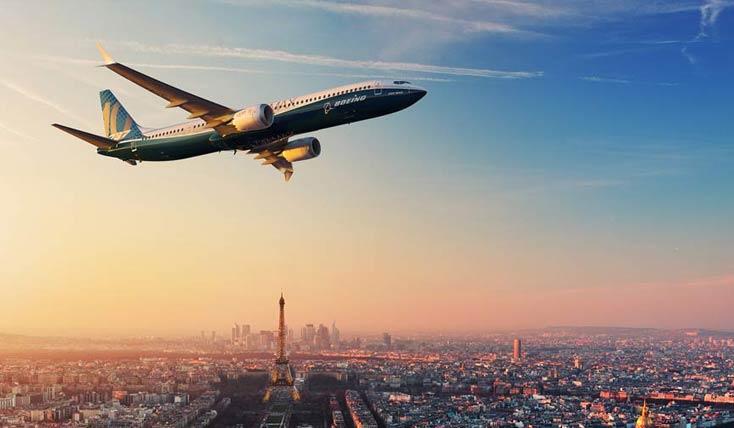 بوئینگ و هواپیمای جدید آن در فرانسه
