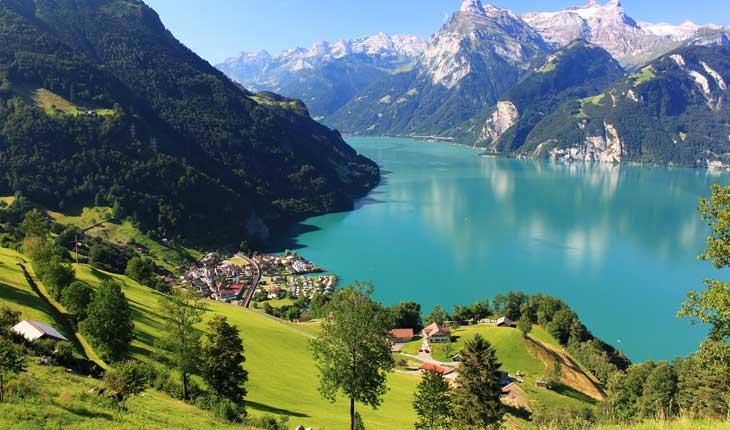 دریاچه های زیبا و دیدنی سوئیس 