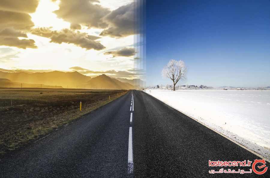 تصاویری ترکیبی از نقاط مشابه جهان در یک قاب