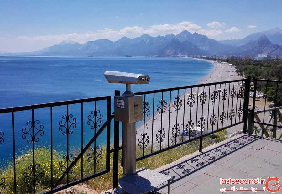 دوربین نمایش ساحل Konyaalti sayili