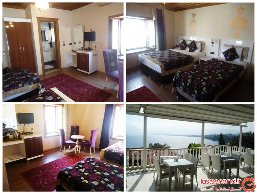 اتاق های هتل و نمای تراس