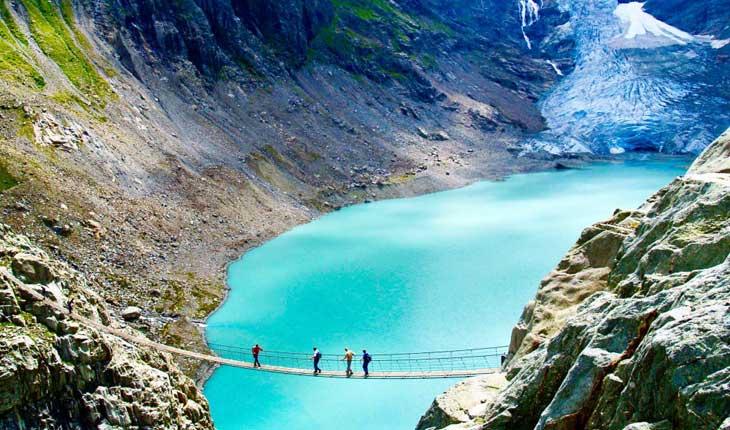 بلندترین پل معلق کوههای آلپ