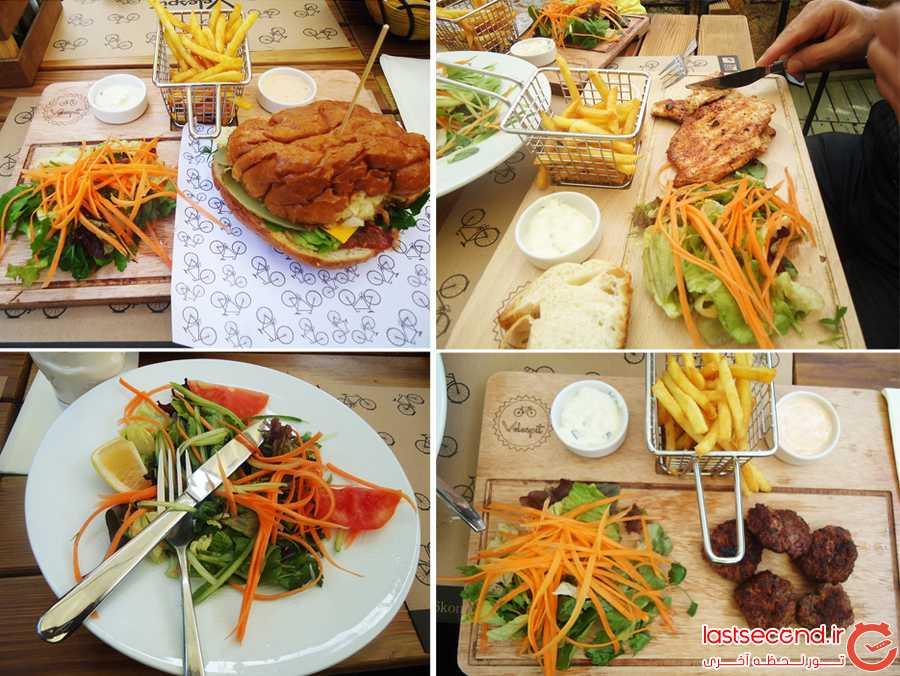 غذاهای سفارش داده شده: مرغ- همبرگر - کوفته و سالاد