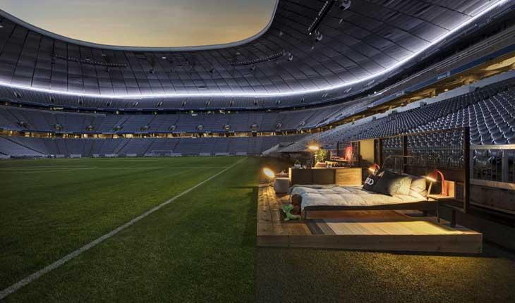 اقامت در یکی از بزرگترین استادیوم های ورزشی اروپا 