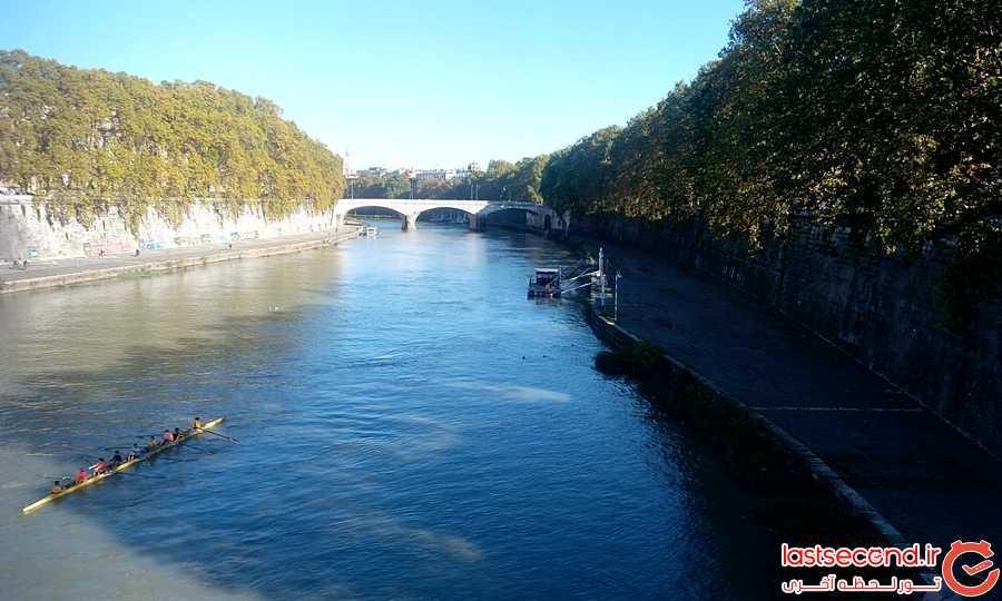 رودخانه زیبای شهر رم