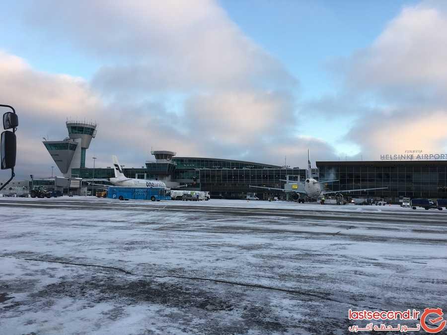 برف در فرودگاه ونتا