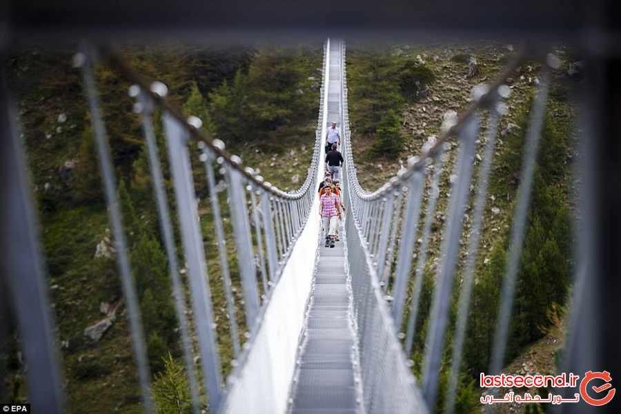 طولانی ترین پل معلق جهان در سوییس افتتاح شد