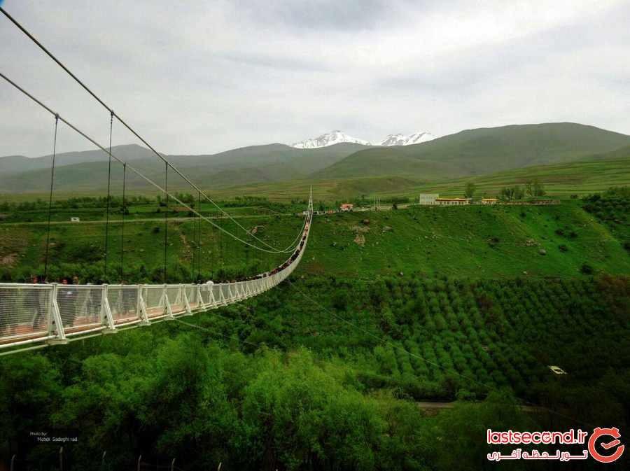 لذت و هیجان در مرتفع ترین پل معلق خاورمیانه