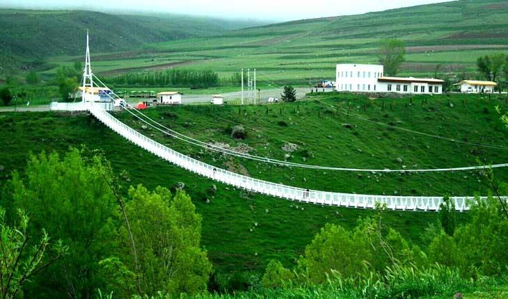 لذت و هیجان در طولانی ترین پل معلق خاورمیانه