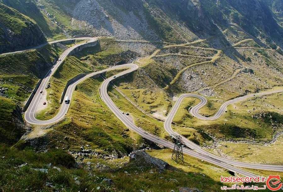 پر پیچ و خم ترین جاده ی رومانی