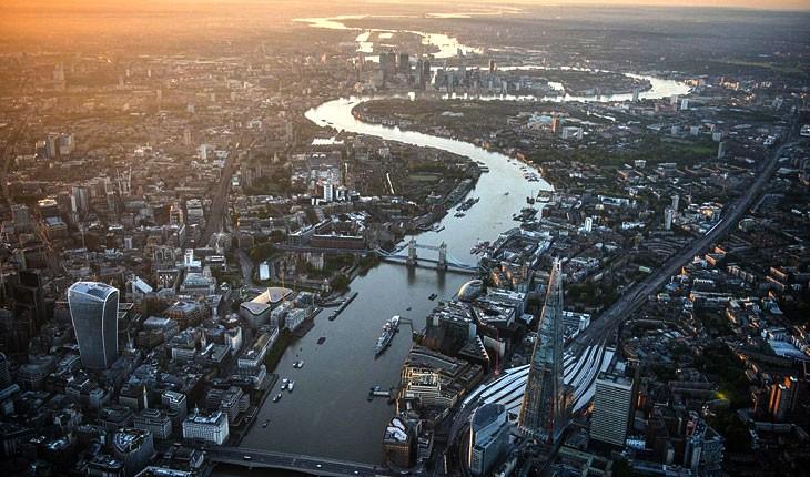 لندن را از آسمان ببینید 
