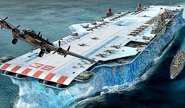 این کشتی عظیم از یخ ساخته شده است!