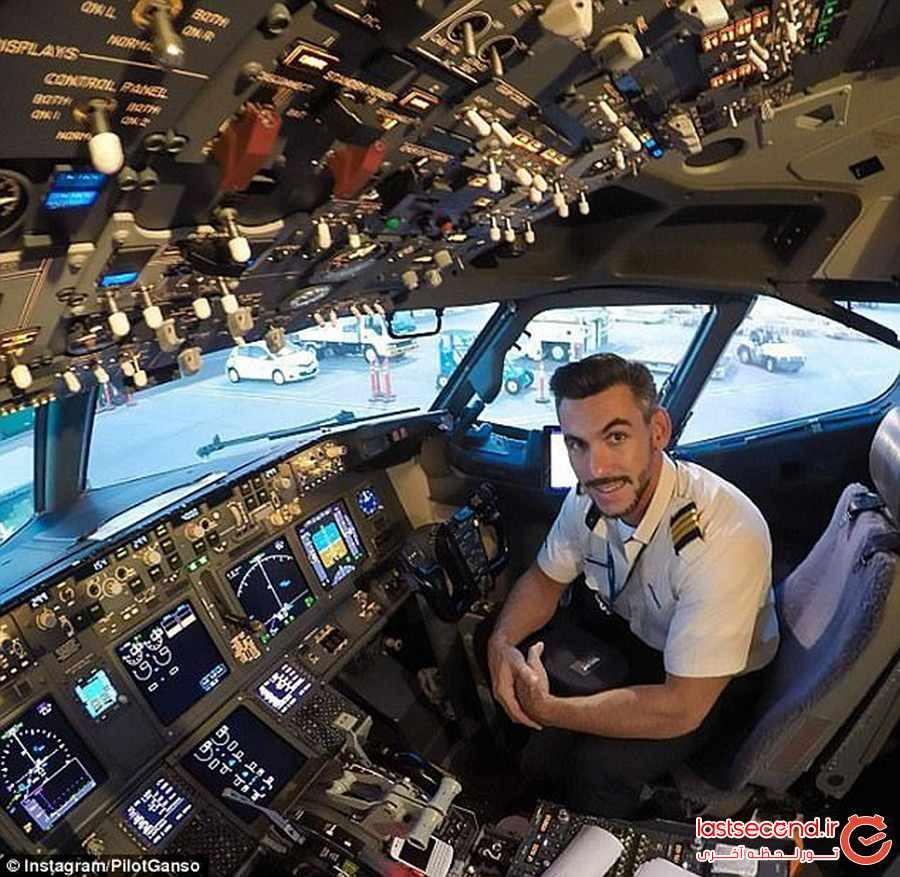 سلفی های شجاعانه این خلبان خبرساز شد 