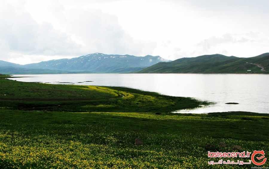 طبیعت بکرنئوربزرگترین دریاچه اردبیل 