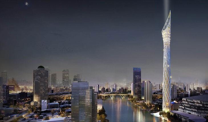 ساختمان شمعی شکل ، برج جدید شهر بانکوک 