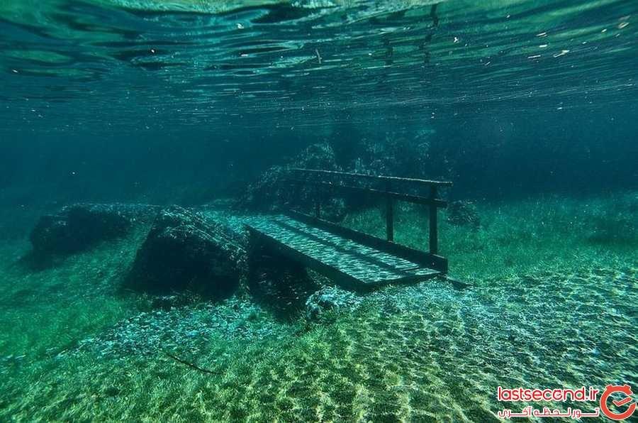 پارکی که تابستان ها تبدیل به دریاچه می شود!