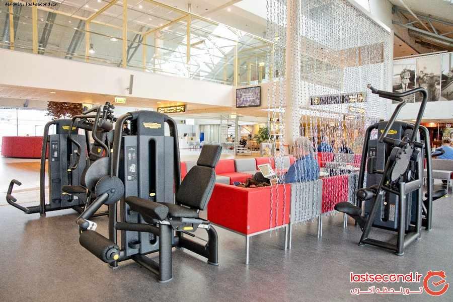 اولین سالن ورزشی در فرودگاه شهر تالین استونی 