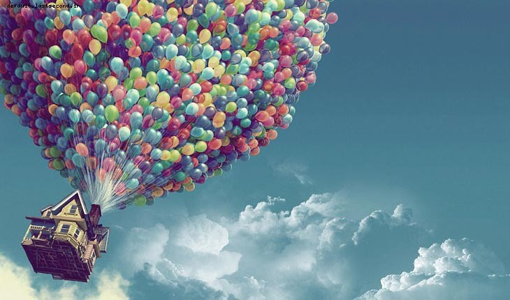 پرواز با بادکنک بر فراز آسمان 