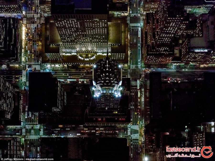 شهرهای نیویورک و لس آنجلس از بالا چه شکلی هستند ؟