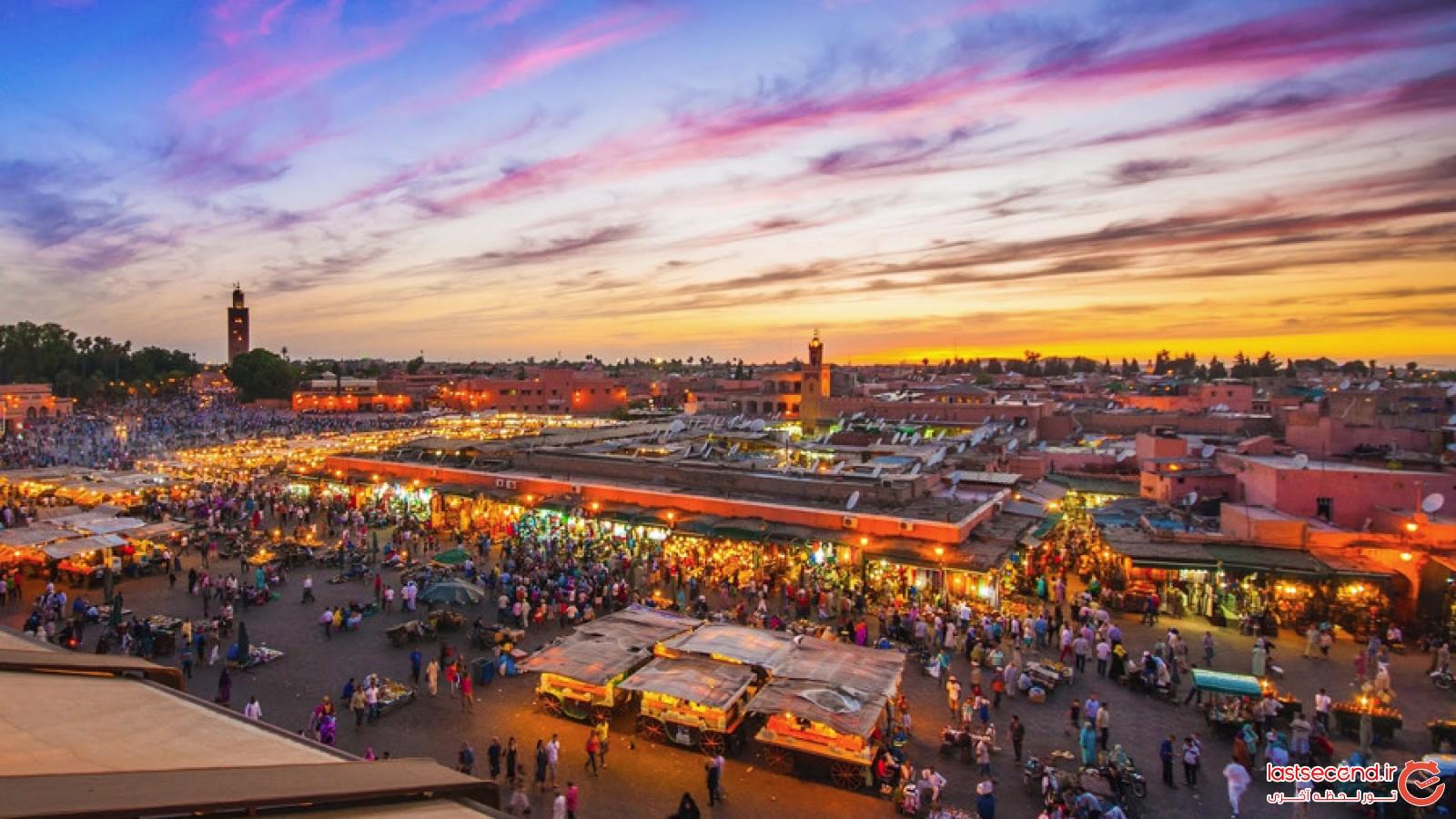 میدان جامع الفنا قلب تپنده شهر مراکش