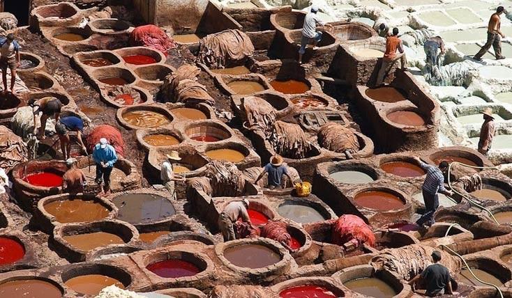 دباغ خانه های باستانی فاس، جاذبه ای دیدنی در مراکش