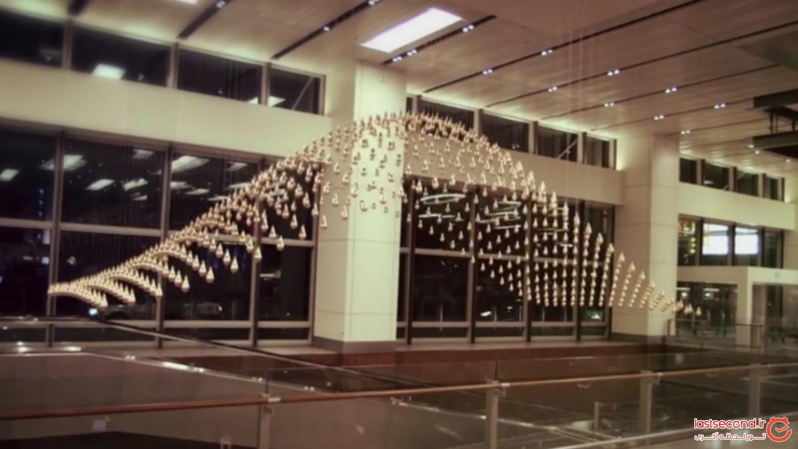 شاهکاری دیگر از فرودگاه بین المللی چانگی سنگاپور