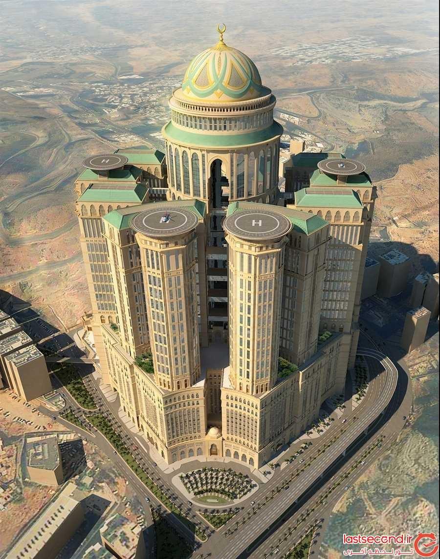 هتل Abraj Kudai، بزرگترین هتل دنیا که در حالت تکمیل شده بدین صورت در می آید.