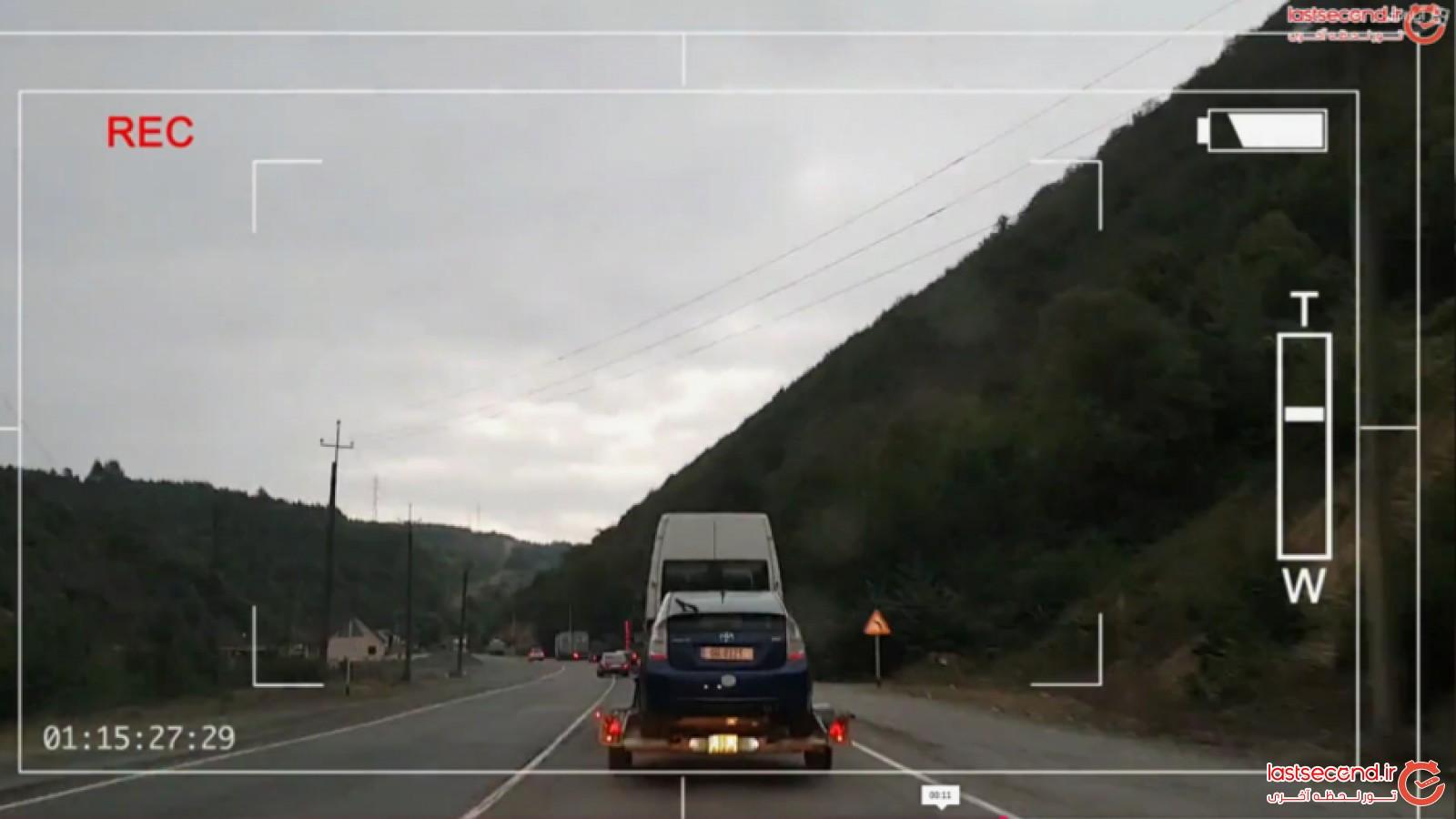 جاده زیبای تفلیس به باتومی در قالب تایم لپس