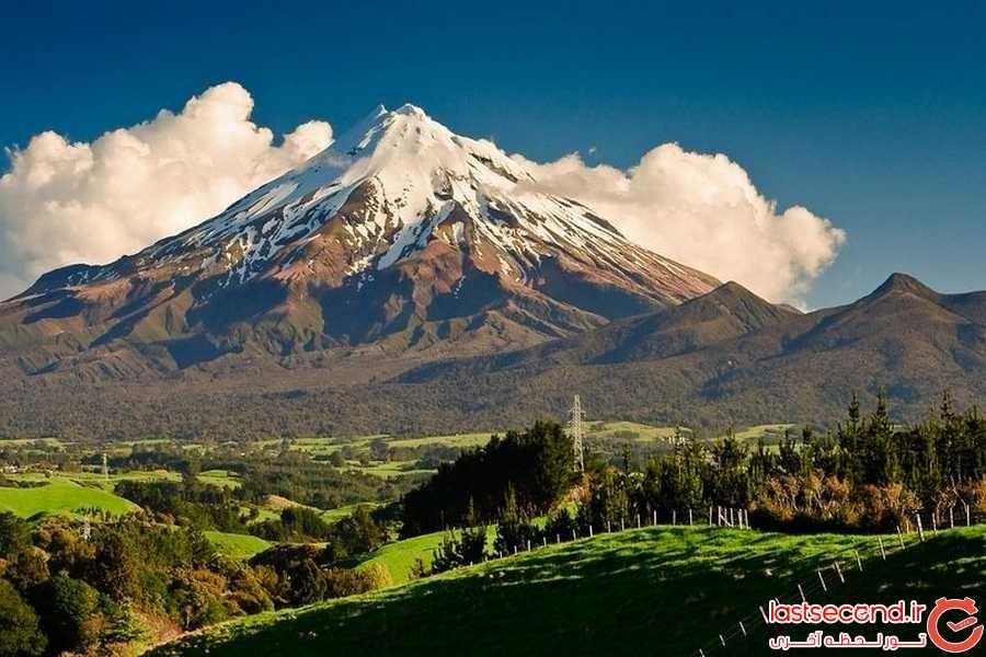 کوه تاراناکی ، متقارن ترین آتشفشان نیوزیلند