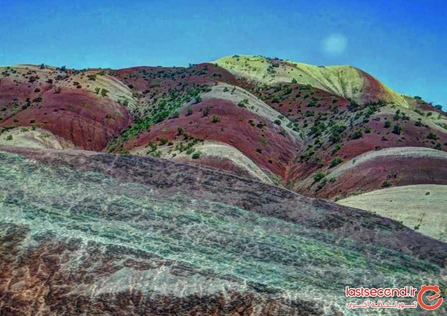 آلاداغ لار، کوهای رنگین کمانی ماهنشان