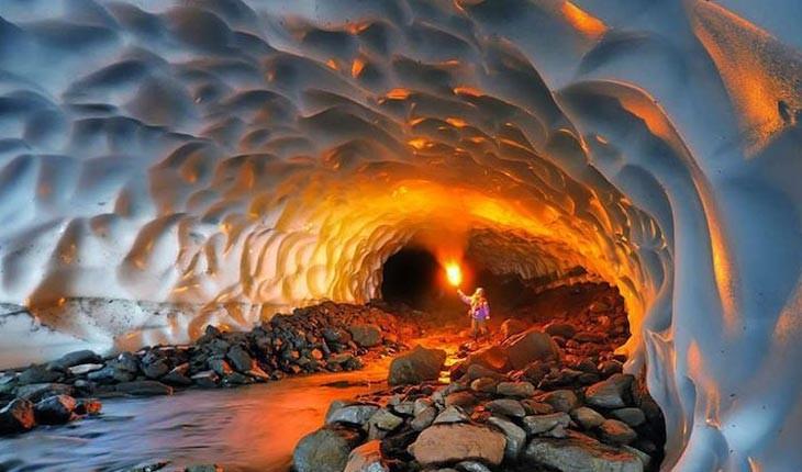 چما، غار یخبندان شیخ علیخان