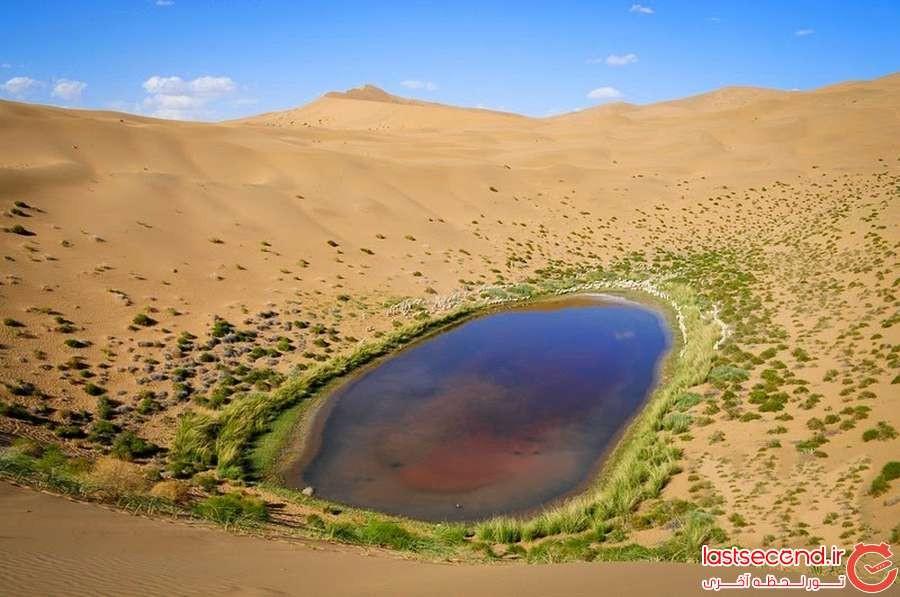 دریاچه هایی اسرارآمیز در بیابان باداین جاران