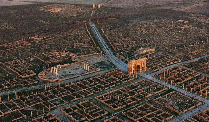 تیمگاد : شهری باستانی با شبکه ای مدرن