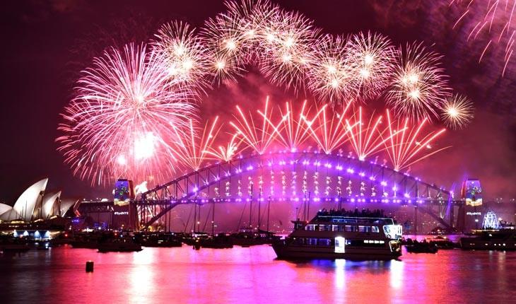 تصاویری از آتشبازی های سال نوی میلادی در سراسر جهان 