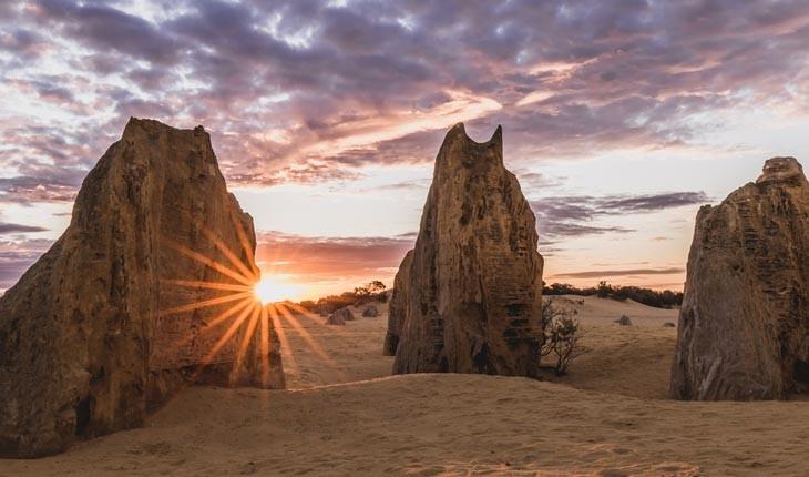 کویر پیناکلز ، کره ی ماه بروی زمین در استرالیا