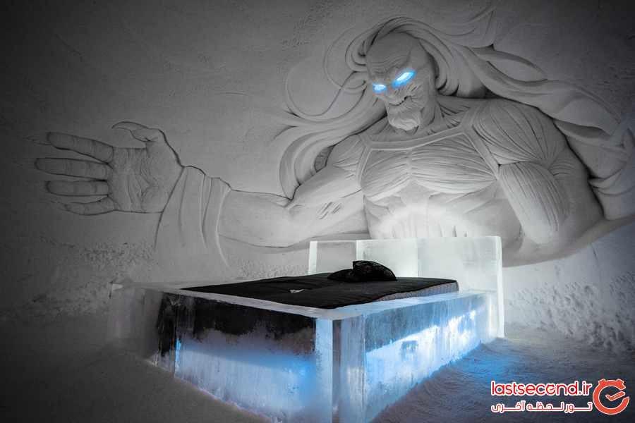 هتل یخی فنلاند با تم سریال بازی تاج و تخت 