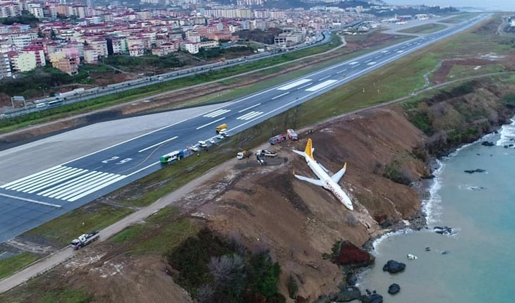 فرود معجزه آسای یک هواپیمای مسافربری در ترکیه