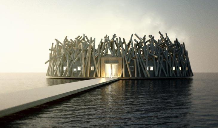 هتلی در سوییس که در دل آب ساخته شده است 