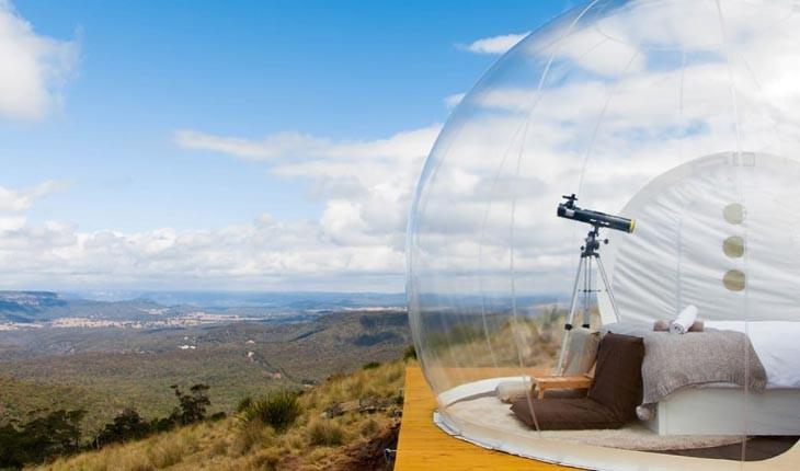 اتاقک های حبابی ، هتلی برای تماشای آسمان استرالیا