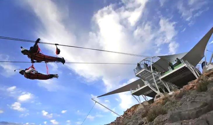 طولانی ترین زیپ لاین جهان در راس الخیمه افتتاح شد 