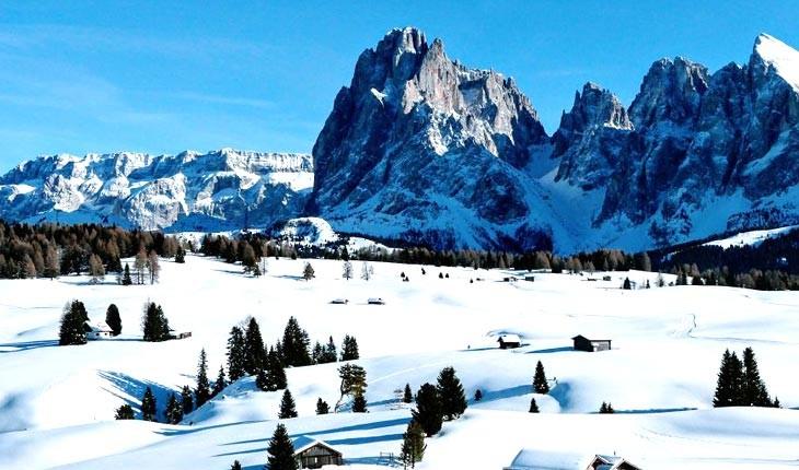 تصاویری از کوههای برفی دولومیت
