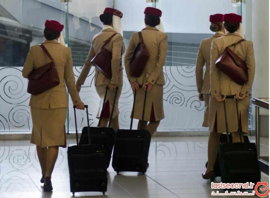 آیا مهماندار درجه یک هواپیمای امارات شدن کار راحتیست ؟ 