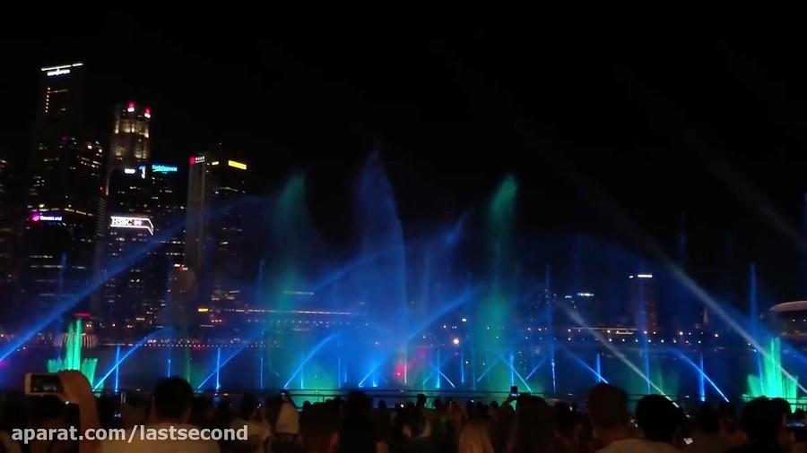 نمایش نور و لیزر مارینا بی سنگاپور