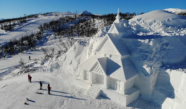کلیسای یخی ، جاذبه ای چینی در نروژ !