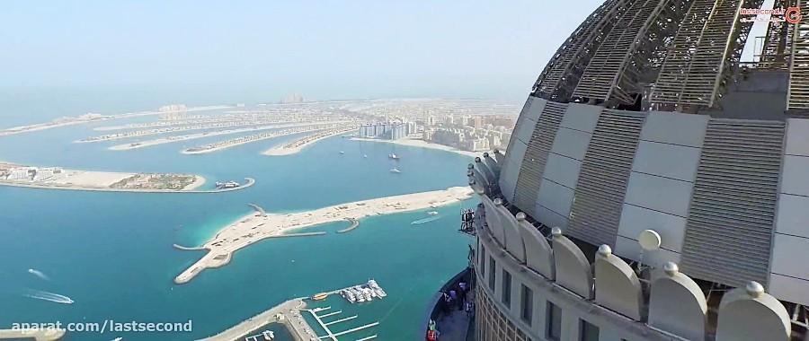 سقوط از آسمان خراش های دبی جایی بالاتر ازابر ها