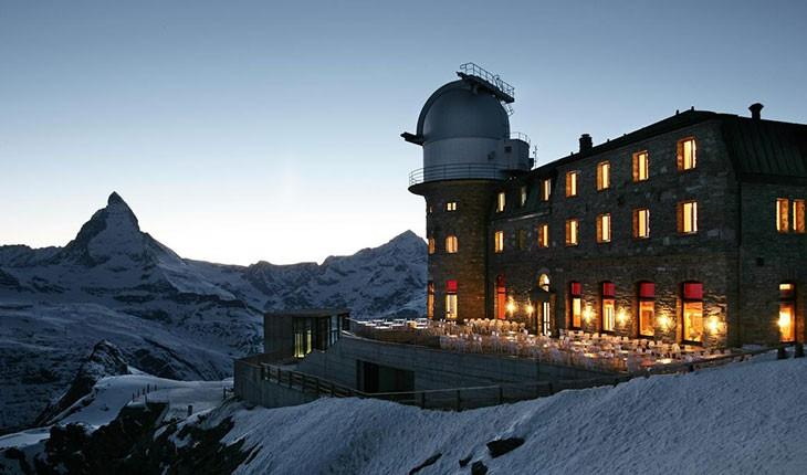 کولم هتل ( Kulmhotel ) هتلی در نزدیکی آسمان در سوئیس