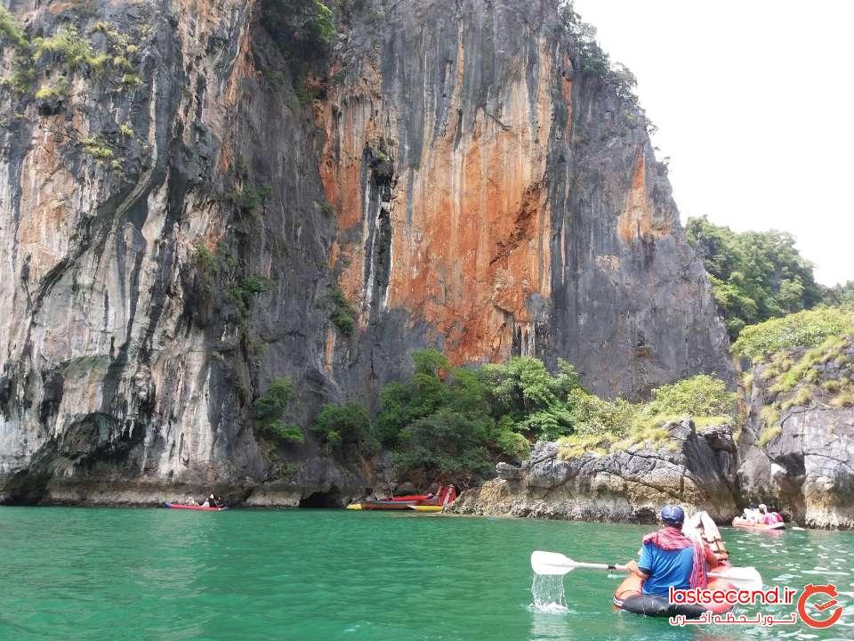 کایاک سواری در جزیره هانگ